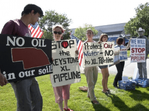 Nebraskans Protest Keystone XL