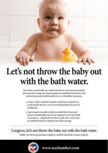 "The U.S. Chamber will no longer be able to publish ""issue ads"" like the one pictured here without disclosing its donors."