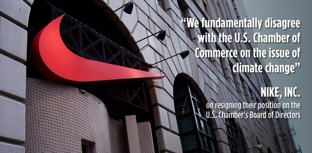 We fundamentally disagree with the U.S. Chamber on climate change - Nike
